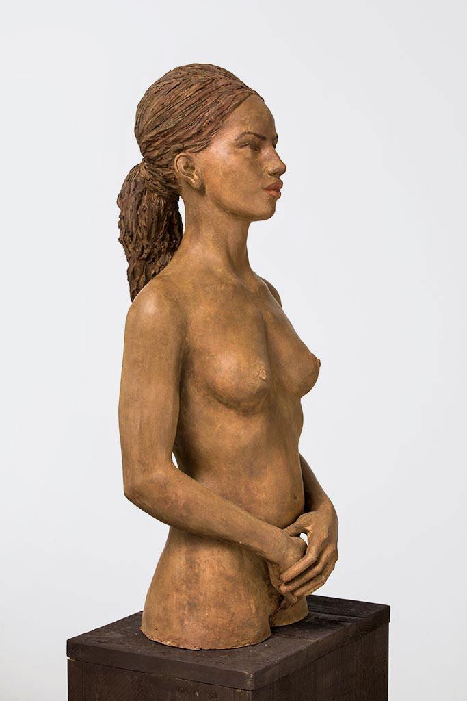 Amirata, Terrakotta engobiert, 69x32x35 cm, 2015
