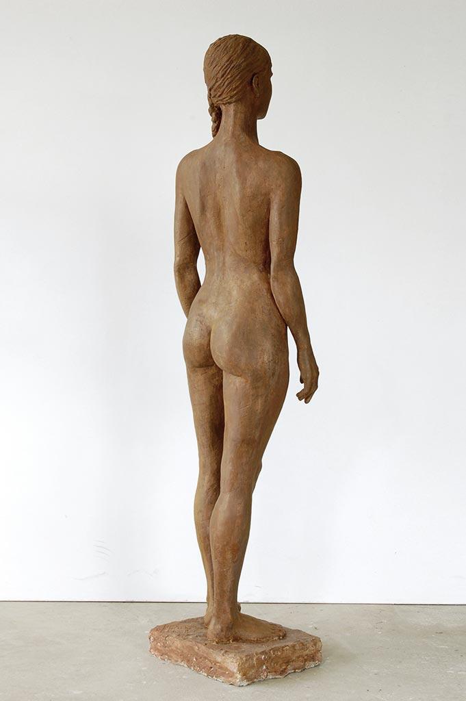 Moi même, Steinguss, 153x38x32 cm, 2019