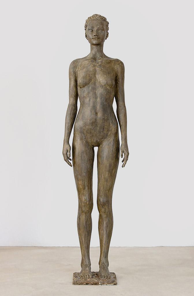 Asiatin, Alabastergips getönt, 165 cm, 2014