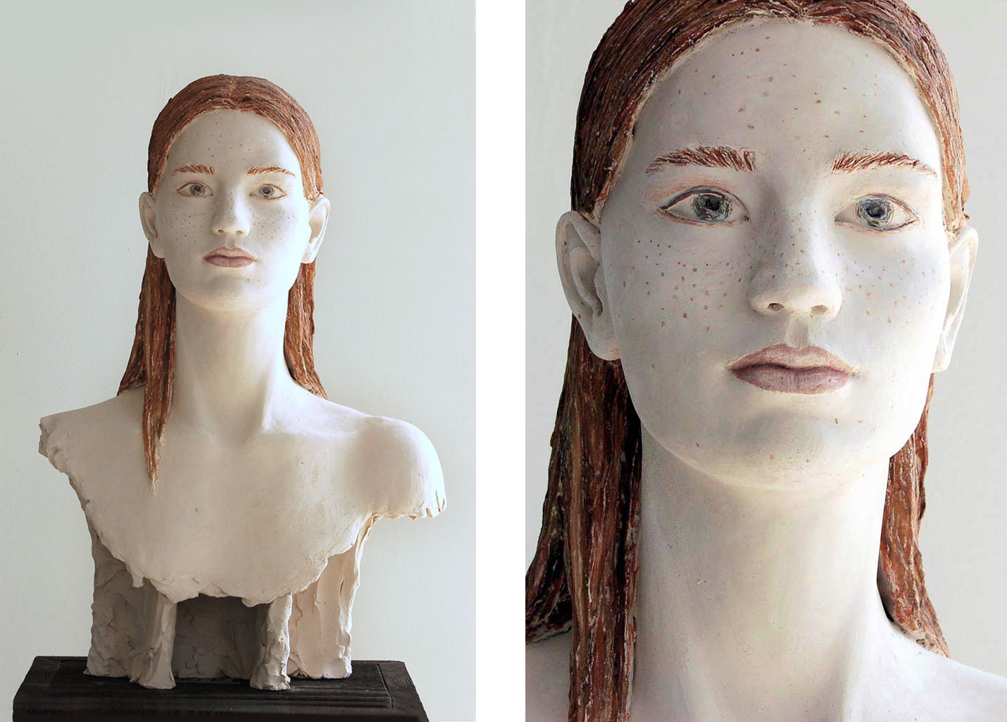 Lilly, Terrakotta engobiert, 50x35x25 cm, 2020
