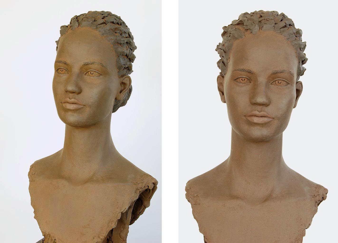 Nunguja, Terrakotta engobiert, 49x26x27 cm, 2020