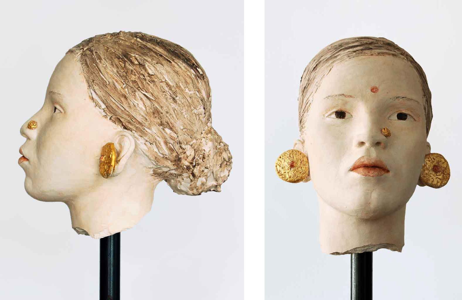 Inderin, Terrakotta engobiert, 39x23x30 cm, 1999