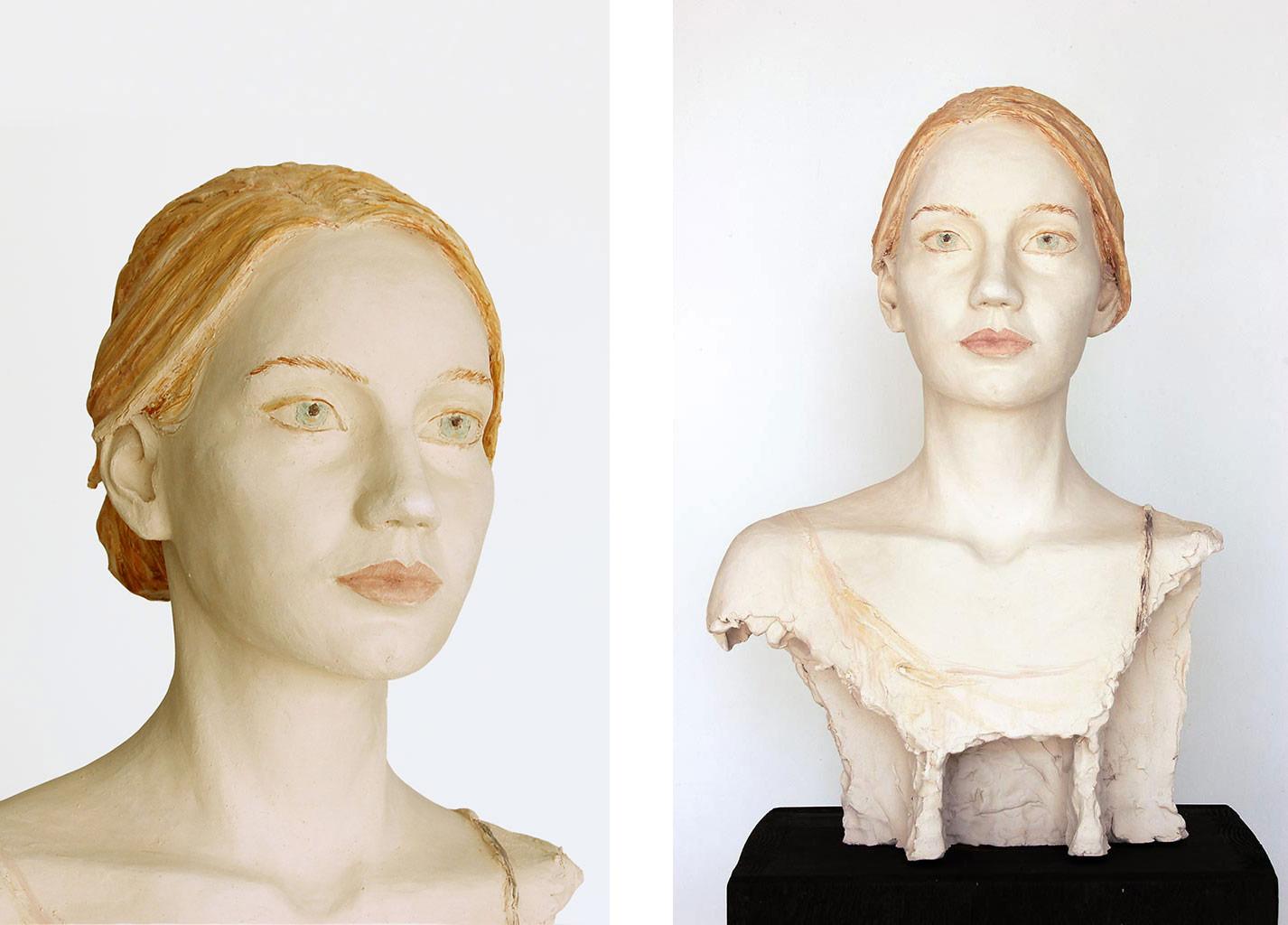 Lena, Terrakotta engobiert, 52x35x30 cm, 2020