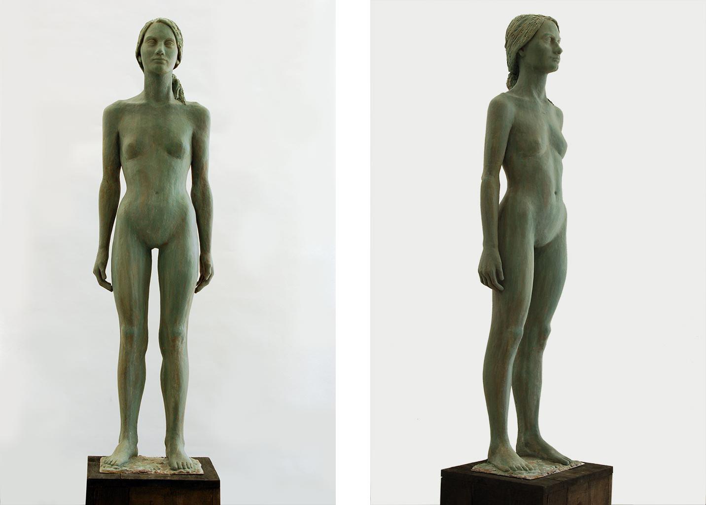 Lena, Alabastergips, 130x31x22 cm, 2020