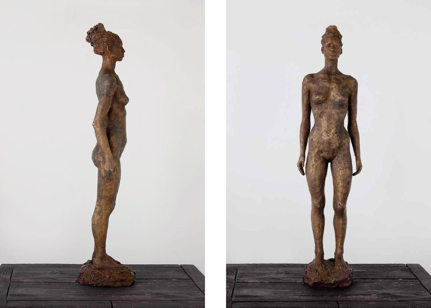 Kleine Stehende, Bronze, 42x10x10 cm, 2016