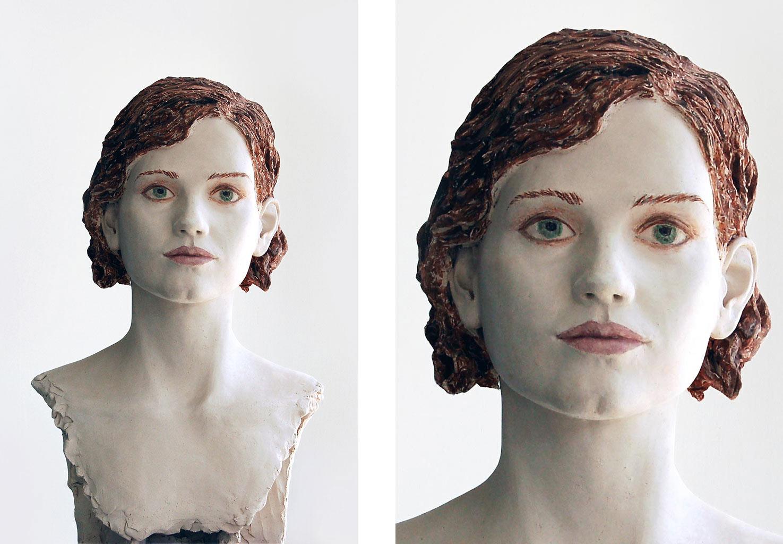 Liv, Terrakotta engobiert, 49x30x26 cm, 2020