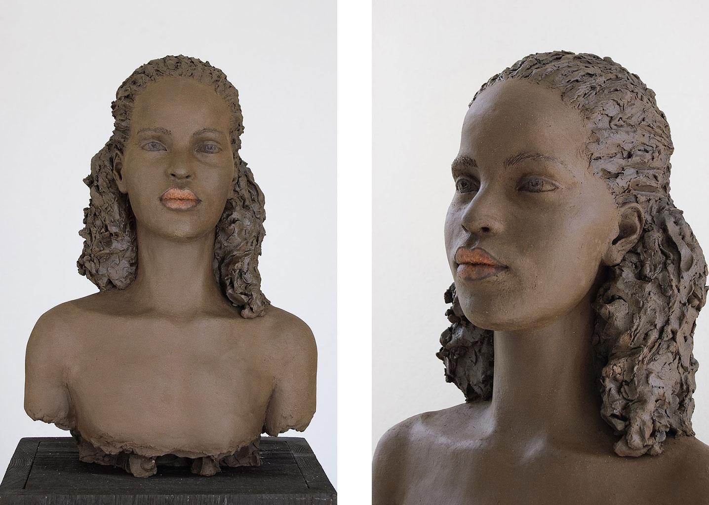 Nasim, Terrakotta engobiert, 44x32x26 cm, 2013