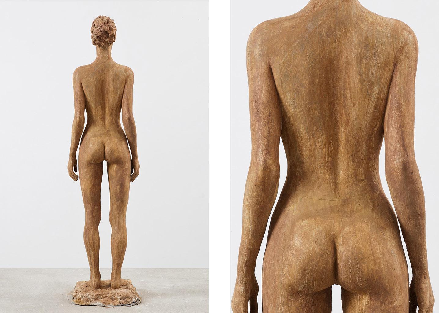 Stehende, Steinguss getönt, 170x36x26 cm, 2012